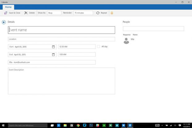 Windows 10 app Mail imágen propiedad de TheVerge