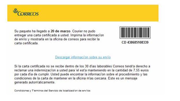 Ransomware Correos