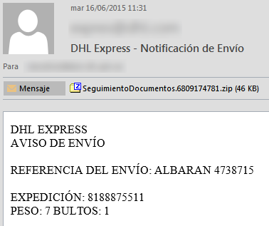 Correo Malware