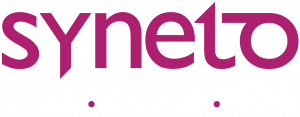 Syneto Logo New Motto White Motto