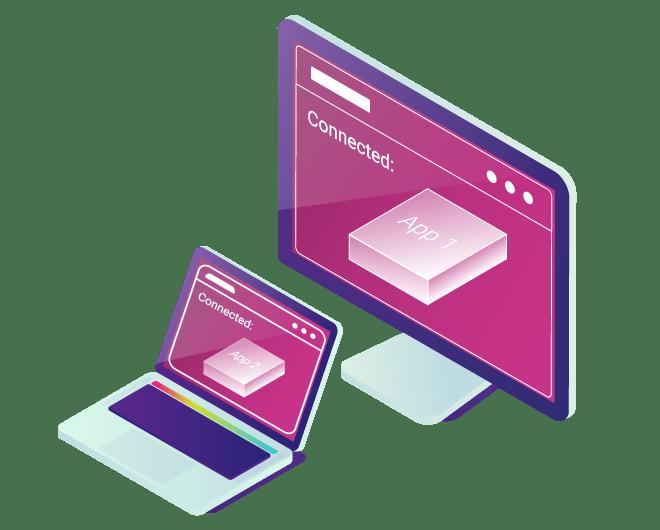 User Laptop Display Isometric